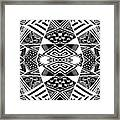 Crossroads To Ornamental - Abstract Black And White Graphic Drawing Framed Print