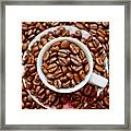 Cup Of Raw Coffee Framed Print