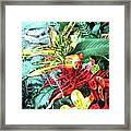 Curley Crotons Framed Print