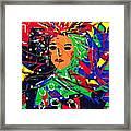 Cyberspace Goddess Framed Print