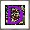 D In Purple Framed Print
