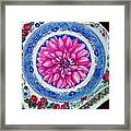 Dahlia And Blue Willow Framed Print