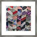 Daisy North Carolina Quilt Framed Print