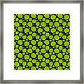 Dalmatian Pattern With A Black Background 09-p0173 Framed Print