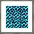 Dalmatian Pattern With A Black Background 18-p0173 Framed Print