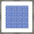 Dalmatian Pattern With A White Background 18-p0173 Framed Print