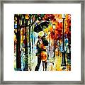 Dance Under The Rain Framed Print