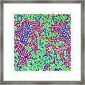 Dancing Dogs After Keith Haring 1958-90 Framed Print