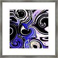 Dancing With The Swans Abstract Framed Print