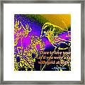 Dare To Love Yourself Framed Print