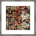 David Bowie Collage Mosaic Framed Print