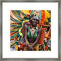 Dc Caribbean Carnival No 17 Framed Print by Irene Abdou