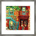 De Bullion Street Girls Framed Print
