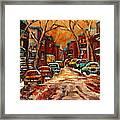 De Bullion Street Montreal Framed Print