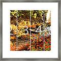 Dead River Falls Marquette Michigan Panoramic Map Framed Print