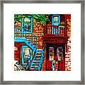 Debullion Street Neighbors Framed Print