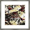 Decadent Urban Red Bricks Painted Grunge Abstract Framed Print