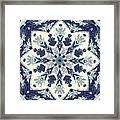 Deconstructed Sea Mandala Framed Print