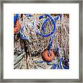 Deep Blue Net Framed Print