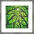 Deep Green Forest Framed Print