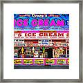 Dennys Ice Cream Shop Framed Print