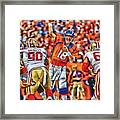Denver Broncos Peyton Manning Oil Art Framed Print