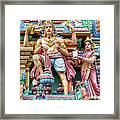detail of Arulmigu Kapaleeswarar Temple, Chennai, Tamil Nadu Framed Print