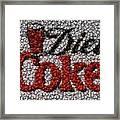 Diet Coke Bottle Cap Mosaic Framed Print