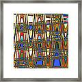 Digital Broad Paint Abstract Framed Print