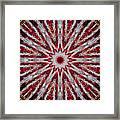Digital Kaleidoscope Red-white 7 Framed Print