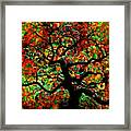 Digital Tree Impressionism Pixela Framed Print