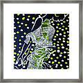 Dinka Maiden Dancing - South Sudan Framed Print
