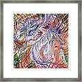 Dizzy Feathers Framed Print