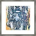 Dog Pop Etching Art Poster Framed Print
