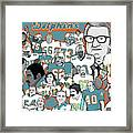 Dolphins Ring Of Honor Framed Print by Gary Niles