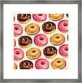 Donut Pattern Framed Print