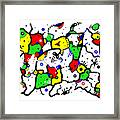 Doodle Abstract Framed Print