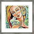 Dove Forest Fairy Framed Print