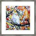 Dove On The Yellow Tree Framed Print