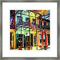 Down On Bourbon Street Framed Print