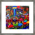 Downtown Attractions Framed Print