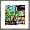 Downtowns Popping Framed Print