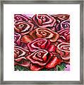 Dozen Roses Framed Print