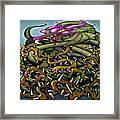 Dragon In Thorns Framed Print