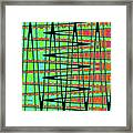 Drawing Abstract #5984wtct Framed Print