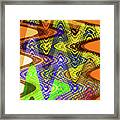 Drawing Color Squares Abstract Framed Print