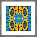 Dreaming In Circles Abstract Hard Candy Art By Omashte Framed Print