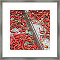 Dried Chili Peppers Framed Print
