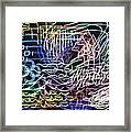 Driving Through The City At Night Framed Print