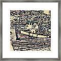 Drobak Harbor Framed Print